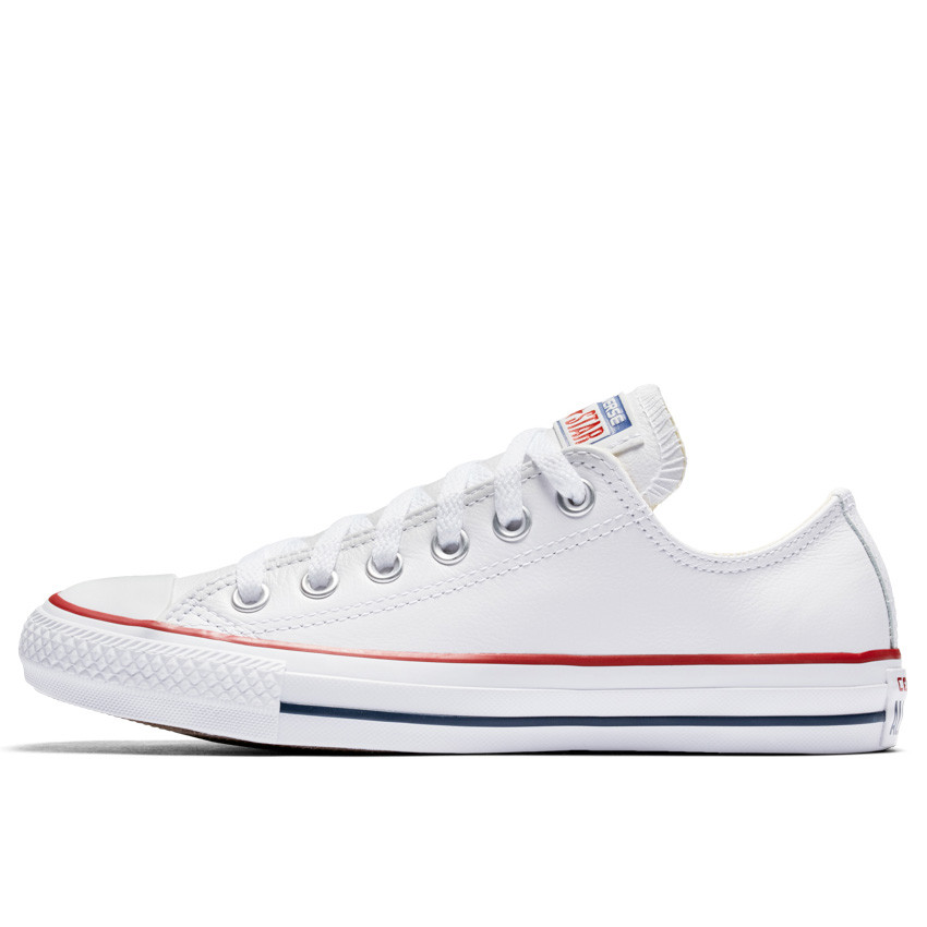 white leather converse